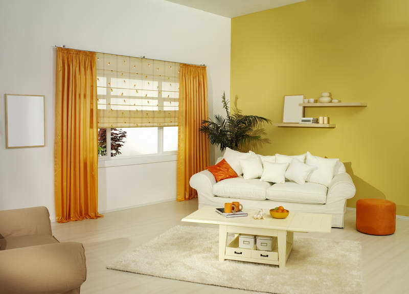 Decoration: The Best Design Of Curtain For Yellow Walls With ...