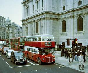 london, bus, and vintage image