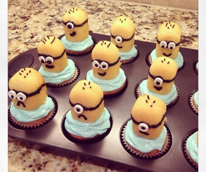 cupcake, food, and minions image