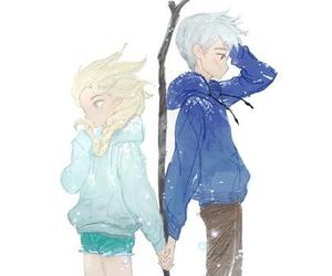 elsa, jelsa, and jack frost image