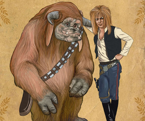 bowie, david bowie, and chewie image