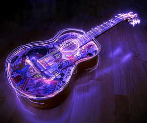colours, guitar, and photography image