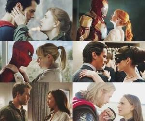 iron man, spiderman, and superman image