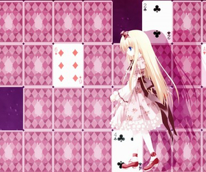 anime girl, cute, and alice in wonderland image