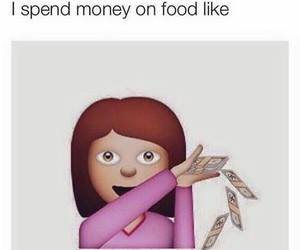 money, spend, and food image