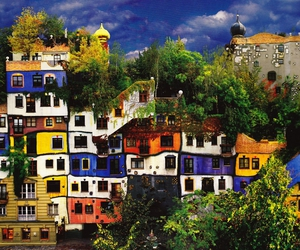 colorful, hundertwasserhaus, and vienne image