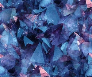 background, blue, and crystals image