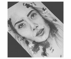 art, beauty, and blackandwhite image