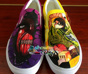 hand painted shoes, custom shoes, and original vans shoes image