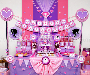 barbie, birthday, and birthday party image