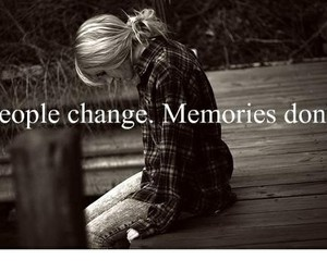 memories, quotes, and change image