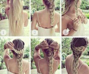 braid, hair, and hair styles image