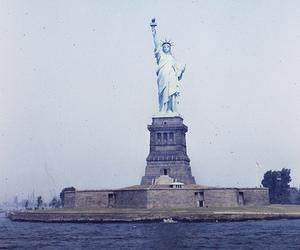 new york, statue of liberty, and usa image