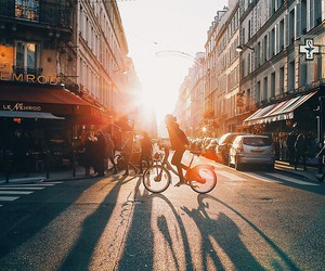 beauty, bicycle, and paris image