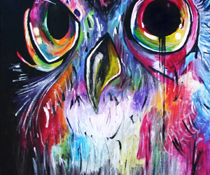 owl and painting image