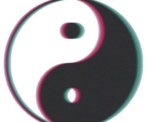 tumblr, transparent, and ying yang image