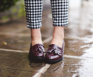 burgundy, flats, and hipster image