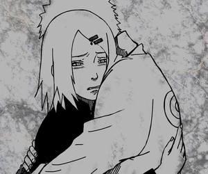 narusaku, naruto, and sad image