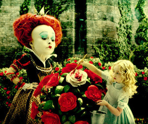 alice in wonderland and roses image