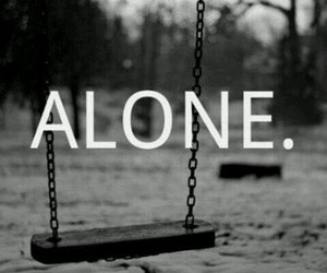 alone, sad, and lonely image