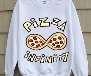 pizza, infinity, and sweater image