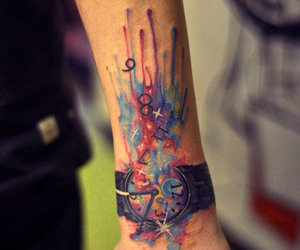 tattoo, watch, and clock image