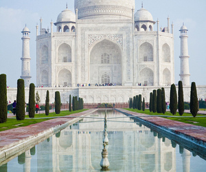 india, beautiful, and taj mahal image