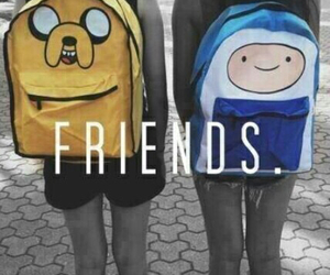 friends, finn, and adventure time image