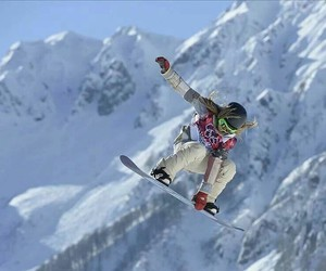 olympics, snowboarding, and snowboard image