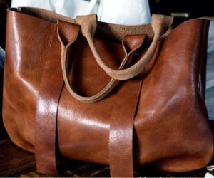 bag, brown, and leather image