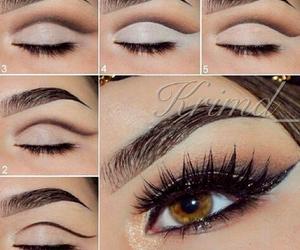 eyes, fashion, and hair image
