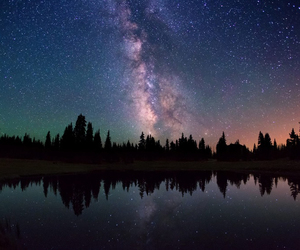 adventure, landscape, and stars image