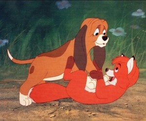 disney, the fox and the hound, and toby image