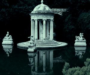 lake, water, and dark image