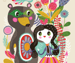 art, bear, and colorful image