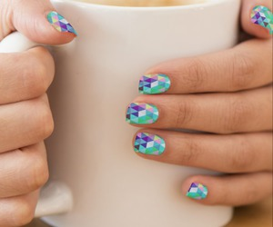 nail art, triangles, and ornaart image