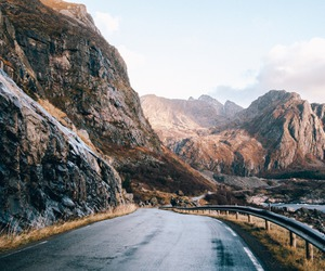 mountains, nature, and road image
