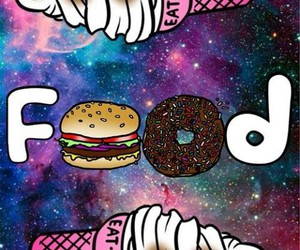 food, galaxy, and ice cream image