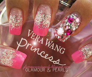nails, pink, and Vera Wang image