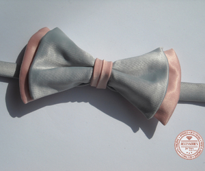 bow tie, vintage, and pink image
