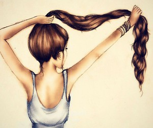 awesome, drawings, and hair image