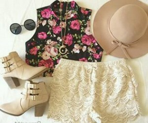 crochet, fashion, and floral image