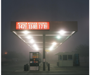 gas station, mist, and petrol station image