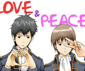 gintama, love and peace, and hijikata toushirou image