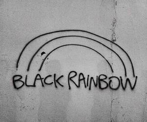 black, rainbow, and grunge image