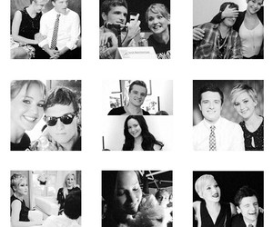 black and white, celebrity, and couple image