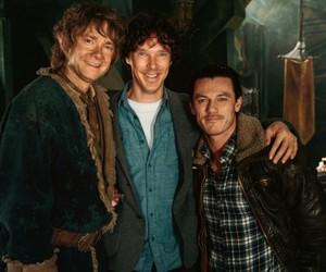 Martin Freeman, the hobbit, and luke evans image