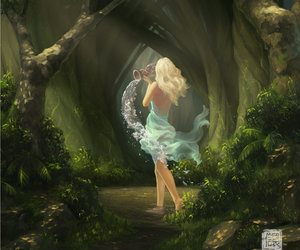 art, fairy, and forest image