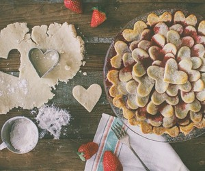 food, Cookies, and hearts image