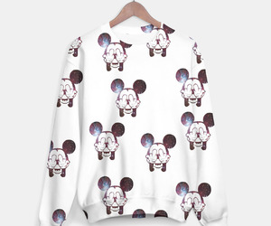 sweater, fashion, and mickey mouse image